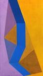 Judith Lauand (1922) - Geometrias - Óleo sobre tela - 70 x 40 cm - Assinado e datado embaixo à esquerda - Registro N. 268 no verso