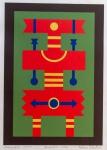 Rubem Valentim (1922-1991) - Emblema - Serigrafia 35/100 - 33 x 24 cm - Assinado embaixo à direita e datado 1972