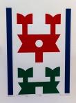 Rubem Valentim (1922-1991) - Emblema - Serigrafia 69/150 - 52 x 35 cm - Assinado e datado 1974 - Sem moldura