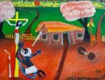 José Antônio da Silva (1909-1996) - Fé - Óleo sobre tela - 44 x 59 cm - 1994 - Assinado e datado embaixo à direita - 1974