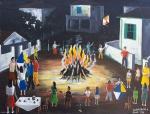 Agostinho Batista de Freitas (1927-1997) - Festa junina - Óleo sobre tela - 50 x 65 cm - Assinado e datado embaixo à direita - 1971