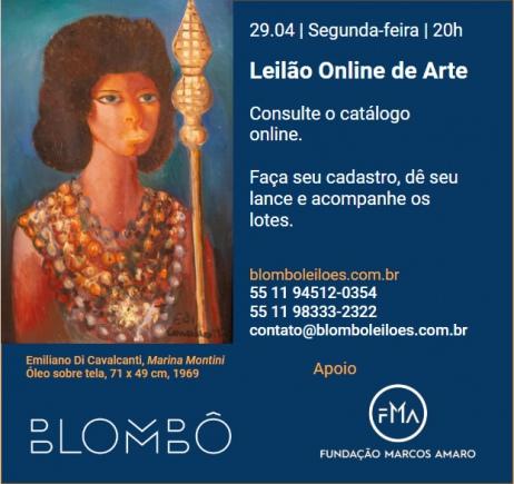 10º Leilão Blombô | Apoio FMA Fundação Marcos Amaro - Dia 29/04, Segunda-feira às 20h