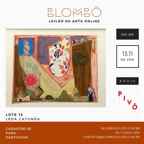 5º Leilão de arte online Blombô - 13 de novembro - terça-feira - às 20:00 HS