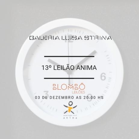 6º Leilão de arte online Blombô | 13º ANIMA | Galeria Luisa Strina | 3 de dezembro às 20h